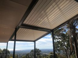 Louvretec Super Roof with hills in background in Mount Osmond