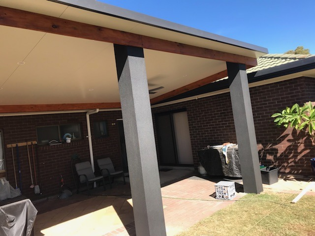Front view of Columns with bondor insulated roof in North Haven, SA