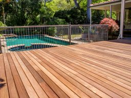 Timber deck by pool in South Australia