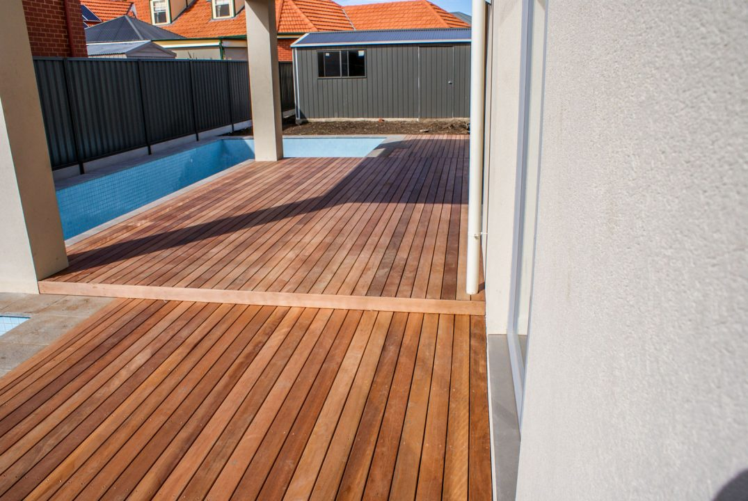 Timber pool decking