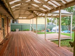 Timber decking with timber verandah in Adelaide