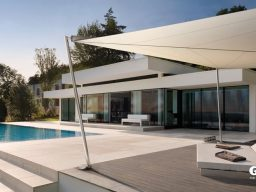 Gibus Retractable Sail Pergola