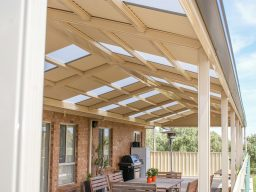 Steel pergola in South Australia