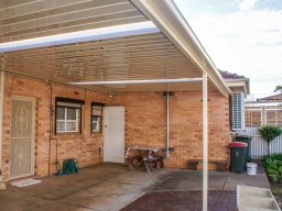 Flat roof steel verandah Adelaide