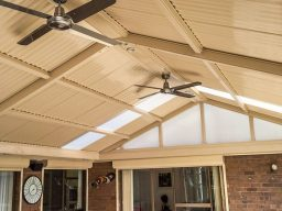 Steel verandah with outdoor fans