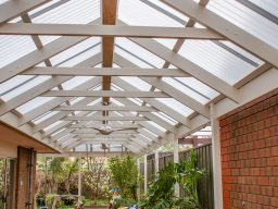 Timber verandah with outdoor fans