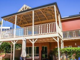 Two story timber verandah in South Australia