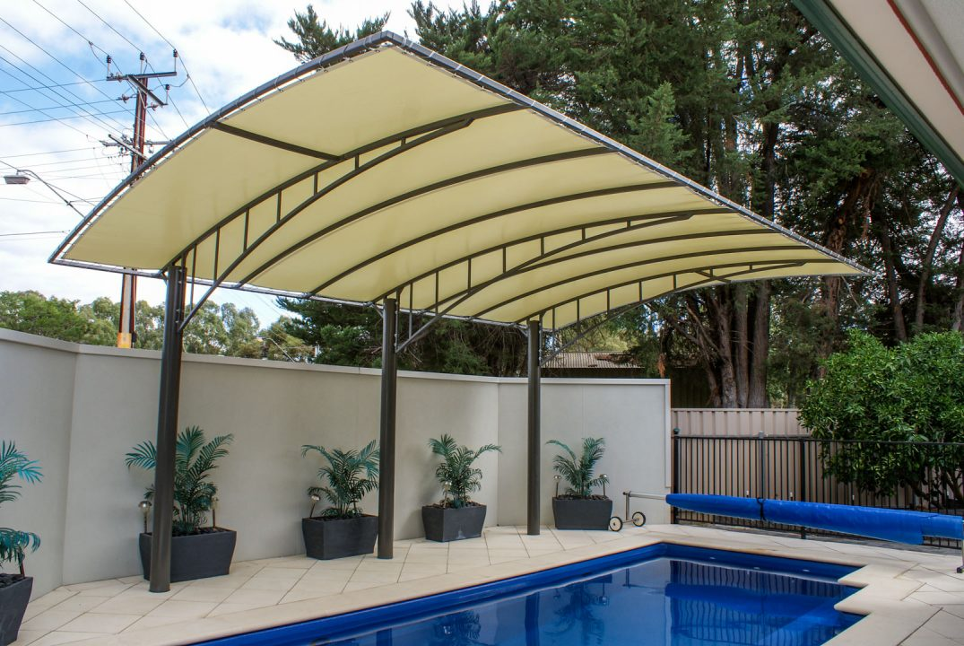 Wide span Vogue pergola adelaide