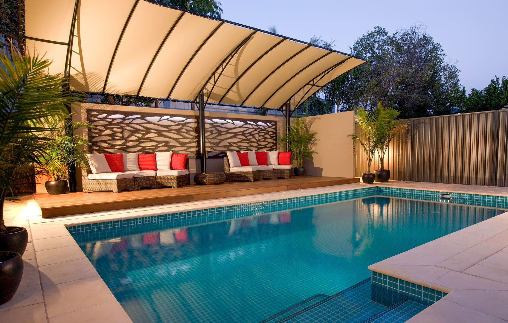 Vogue Pergolas Next to pool in adelaide