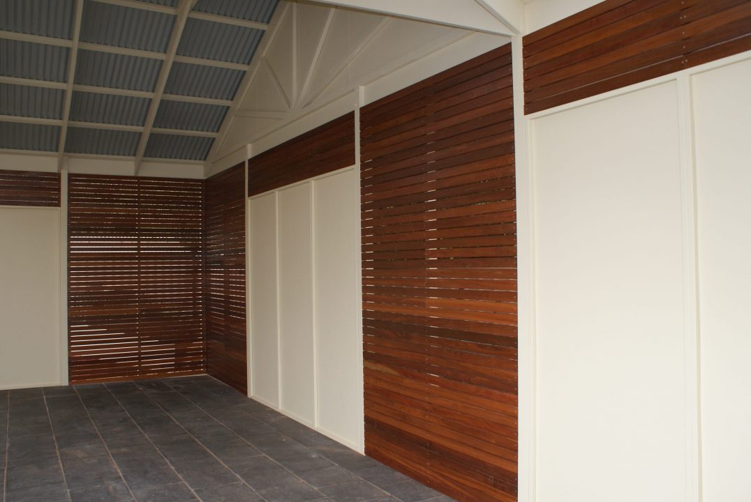 Timber Decking Wall