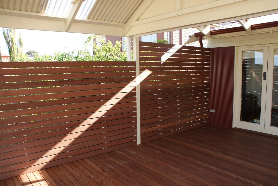 Timber Decking partition