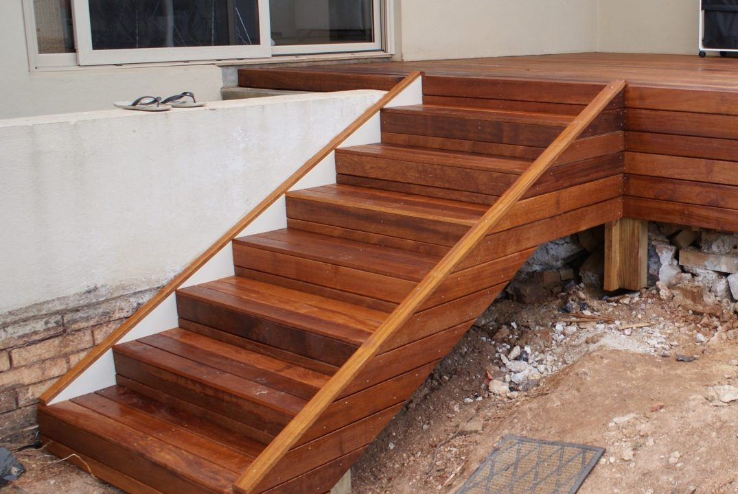 timber deck stairs