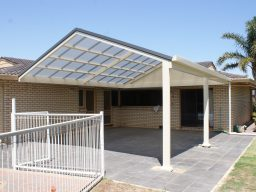 transparent roof pergola