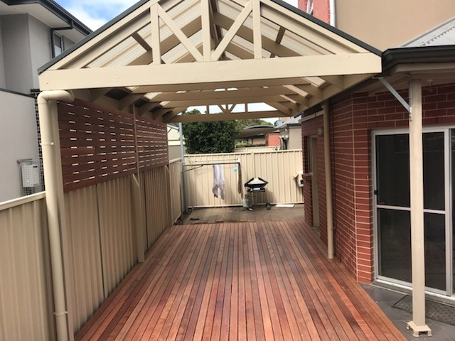 Pergola over timer deck in Renown Park, SA