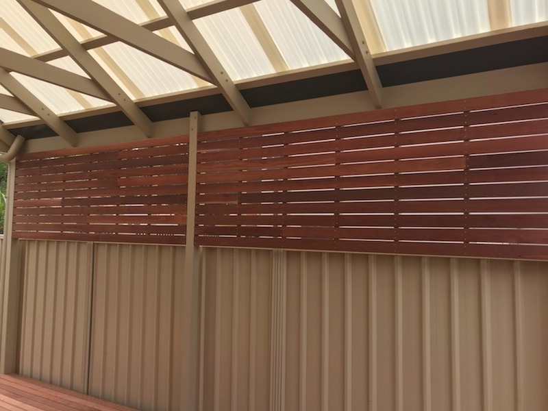 Side view of pergola over timer deck in Renown Park, SA